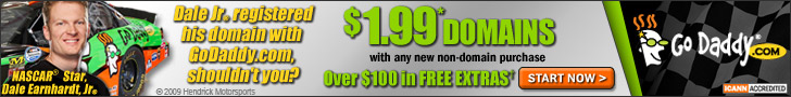 $1.99 Domains* at GoDaddy.com