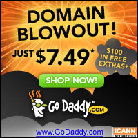 Go Daddy $7.49 .com Sale!