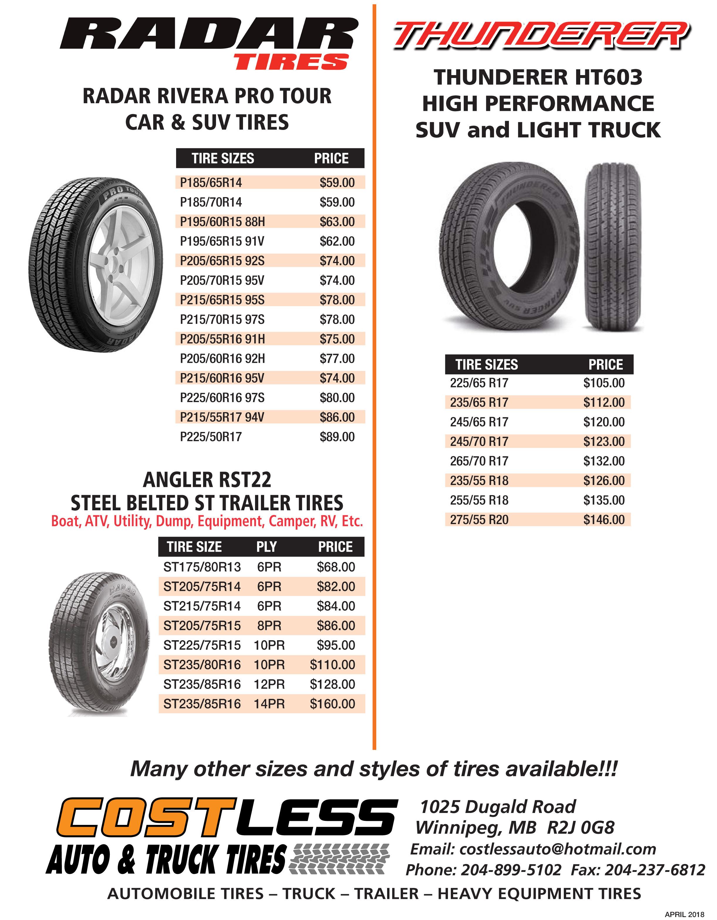 Light Truck Tire Sizes Chart Best Tire 2018