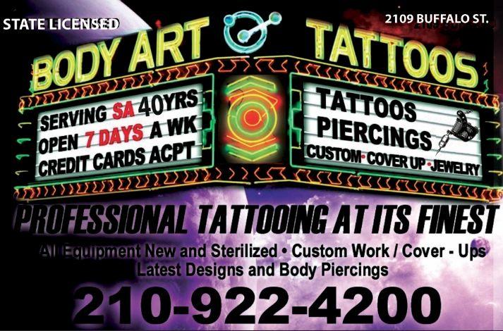 Body Art Tattoos Piercings