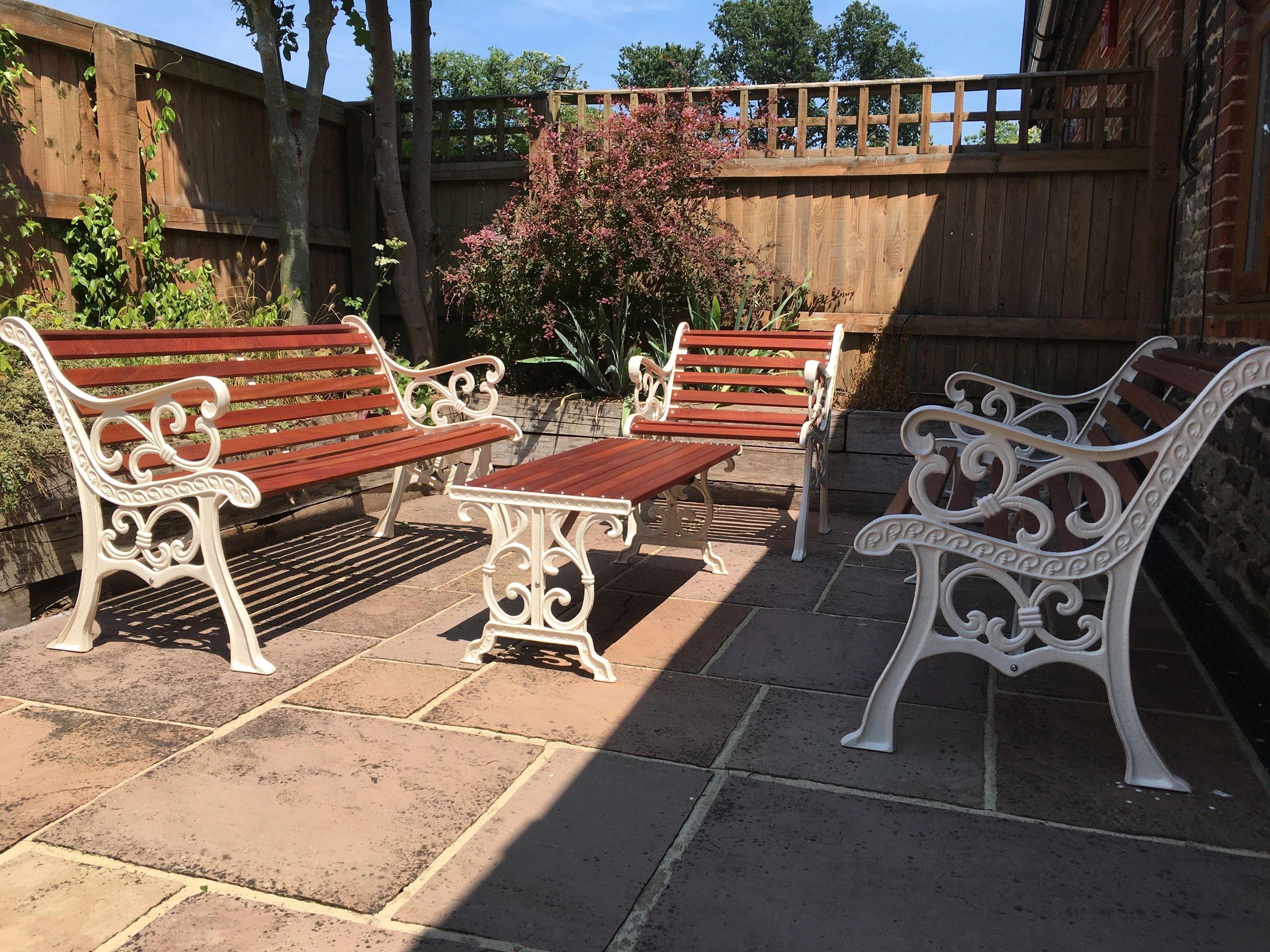 Sensational Reclaimed Garden Furniture Benches Patio Furniture Short Links Chair Design For Home Short Linksinfo