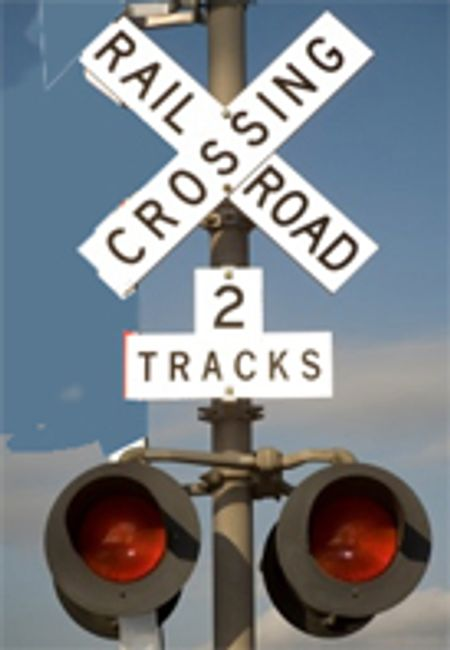 RAILROAD CROSSING SIGN - 19TH CENTURY