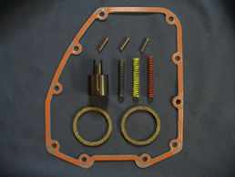 Harley Twin Cam oil pressure relief valve spring kit with gaskets