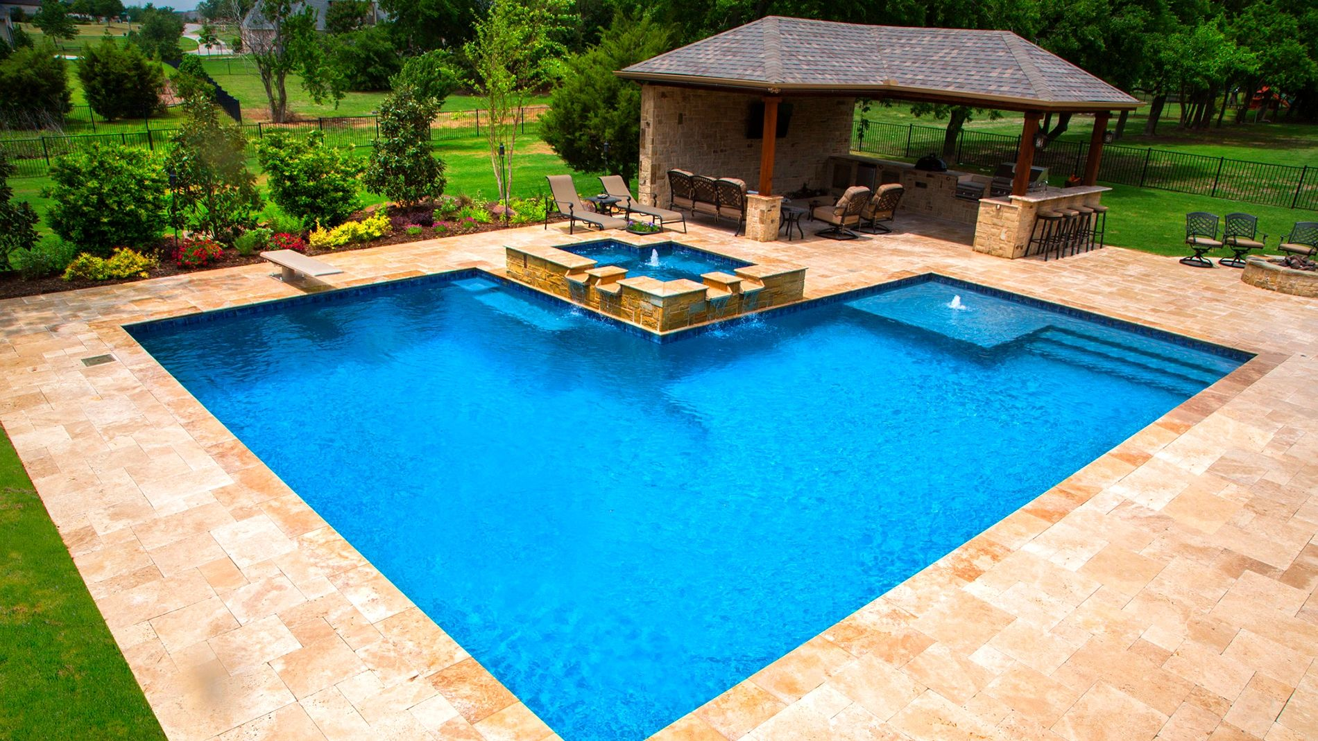 Pool Service Swimming Pool Backyard Retreat Lake Park