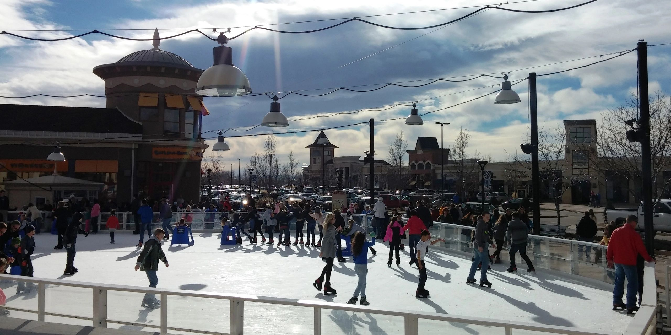 the ice rink at the promenade shops at centerra