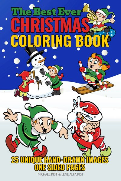 christmas coloring book, children's coloring book, children's coloring pages, coloring book for chil