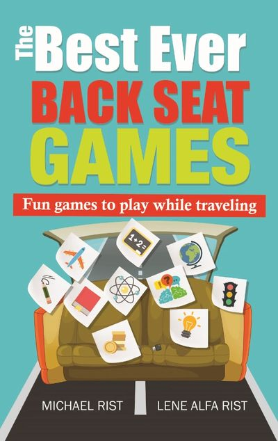 Back seat games for kids. Fun for the road. Kids in the back seat. Activity book for kids.
