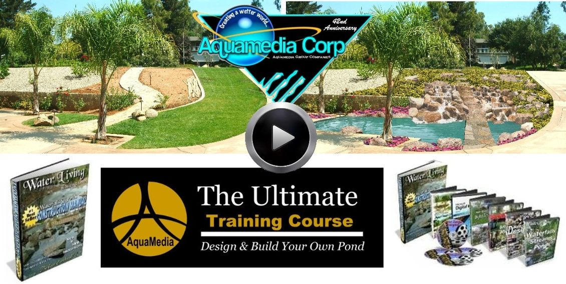 how to buil,how to design waterfall pond, fountain, stream, koi pond mauual