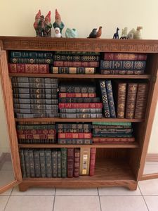 Home with furniture, decor, tools and a Collection of Easton Press Leather Books