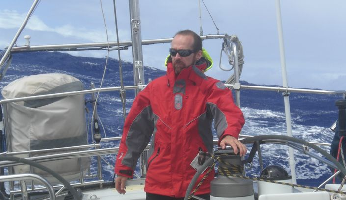 During a yacht delivery in the Southern Ocean running off before a big low pressure