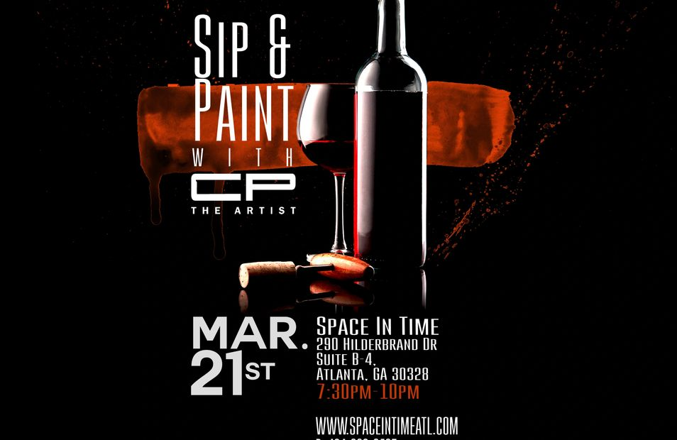 Space In Time is so happy to partner with @cptheartist in our First Sip and Paint event. Join us for