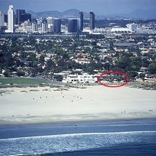 Aerial image of The Coronado Beach House