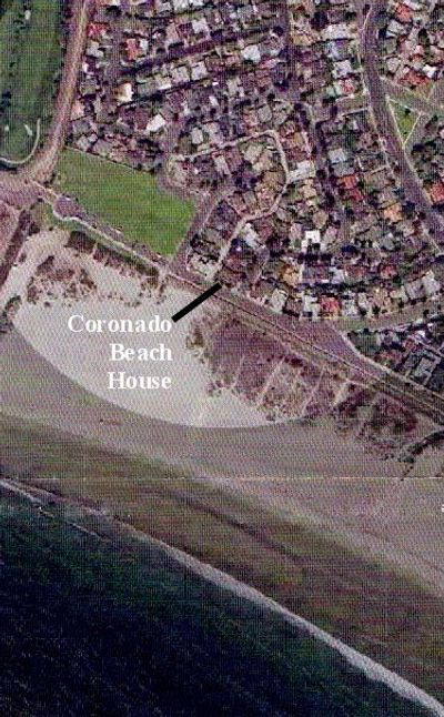 Satellite view of the Coronado Beach House