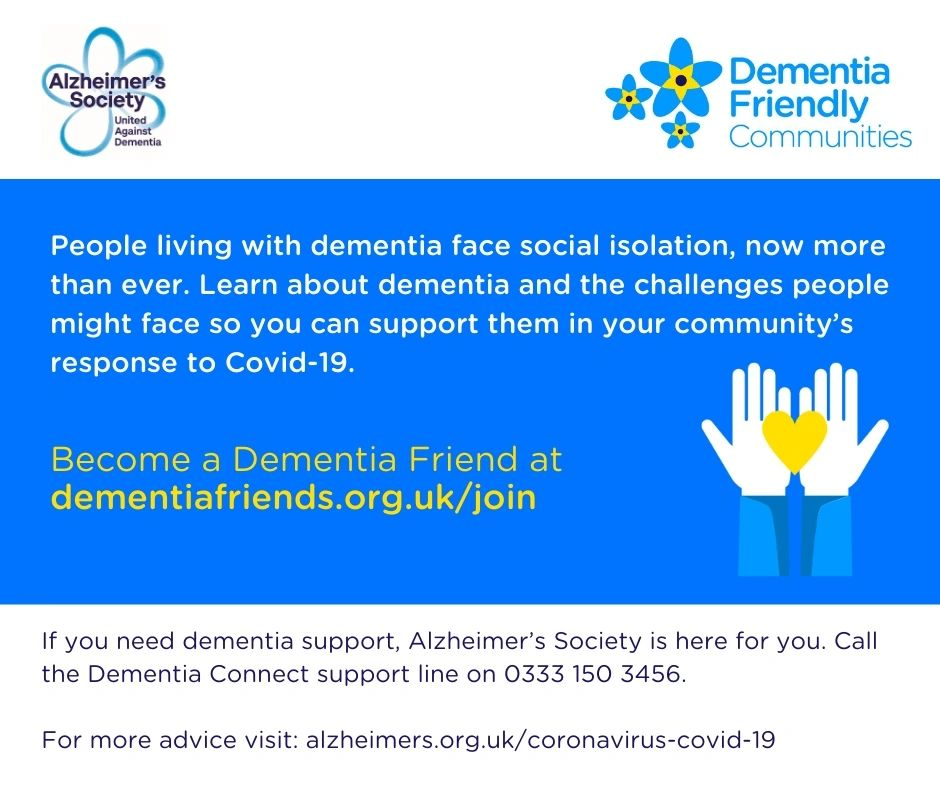 Become a Dementia Friend at dementiafriends.org.uk/join