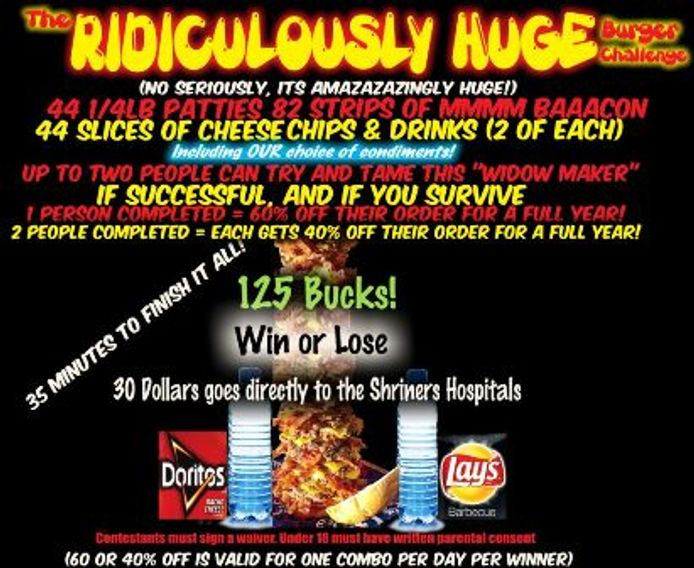 Rockin Burgers N Dogs Food Truck Ridiculously HUGE Burger Challenge Casper Wyoming