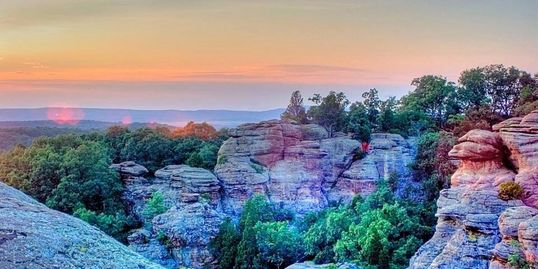 you can also ride to the garden of the gods wilderness area and back in a half day at high knob you have the best of trail riding hiking and hunting - Shawnee National Forest Garden Of The Gods