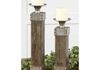 Wood and Metal Candle Holders: $198