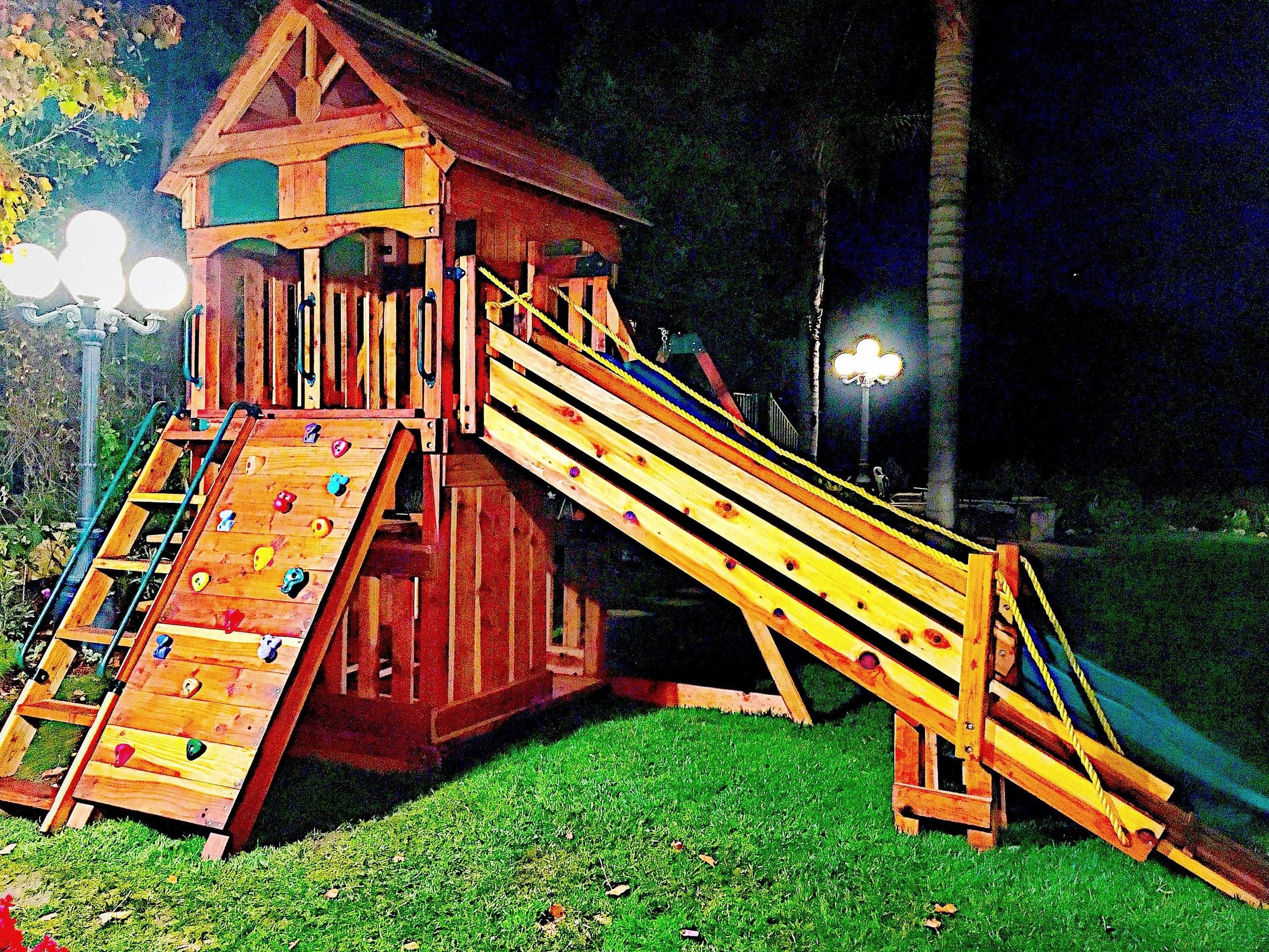for the safest trampolines the best in custom swing sets tree