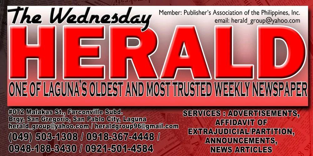 The Wednesday Herald (Laguna Province's Weekly Newspaper