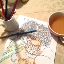 free coloring pages from Set to a Tea