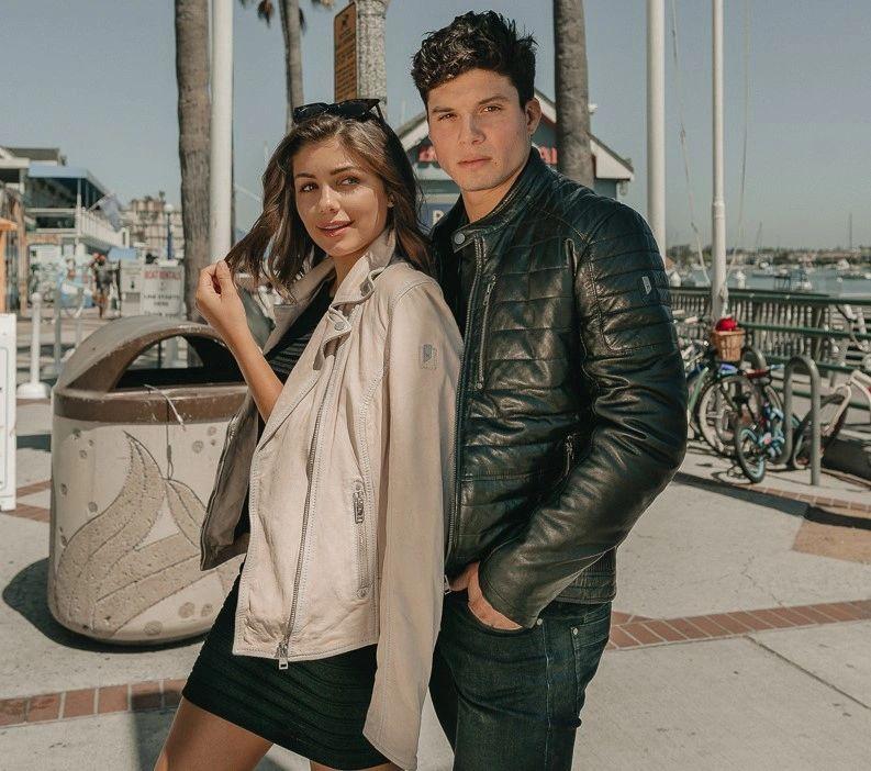 World of Leather Womens Stylish Leather Jacket Cognac