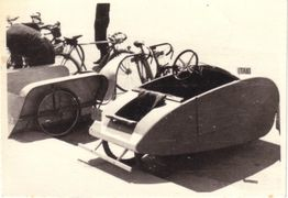 Mochet Velocar as a Velotaxi in Paris