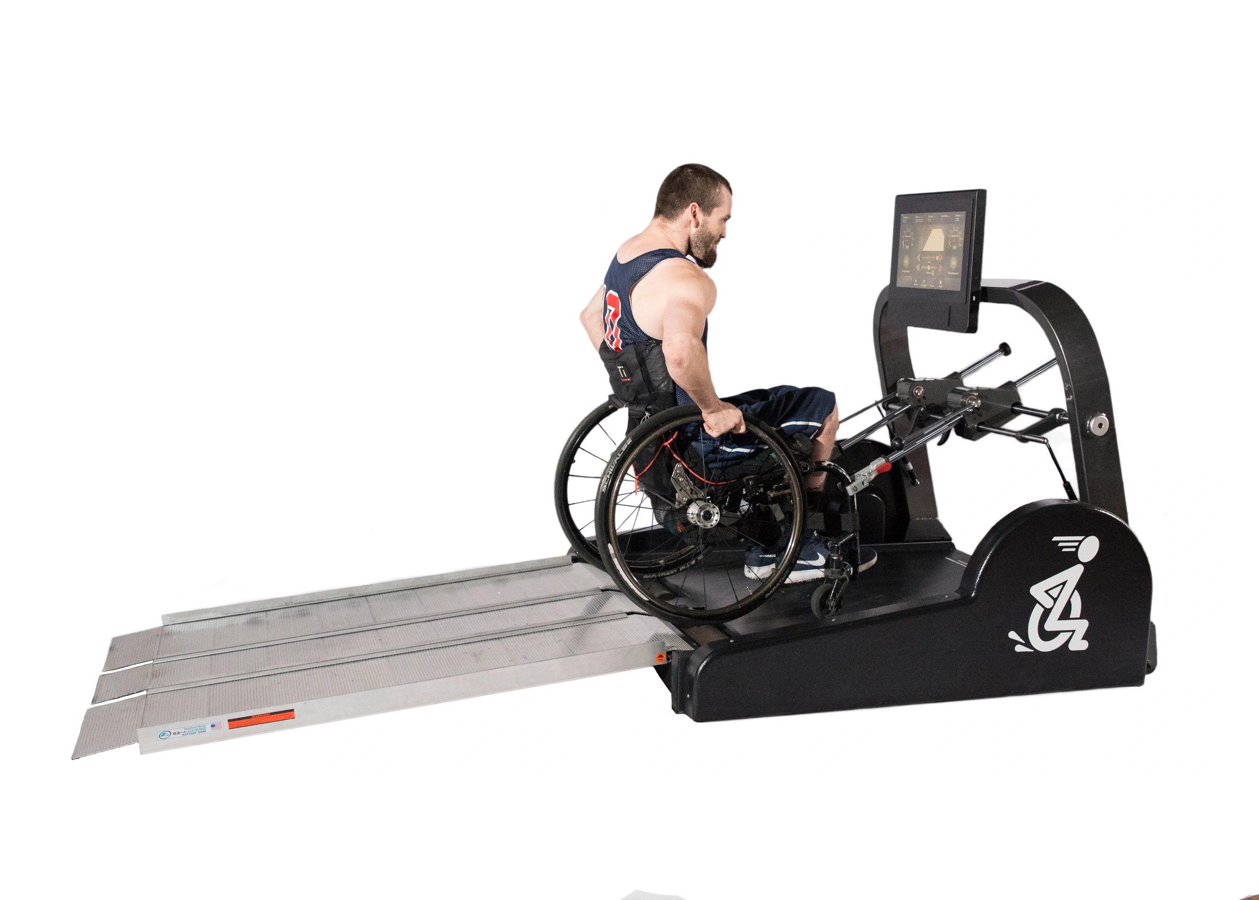 Wheelers paramill wheelchair treadmill health fitness