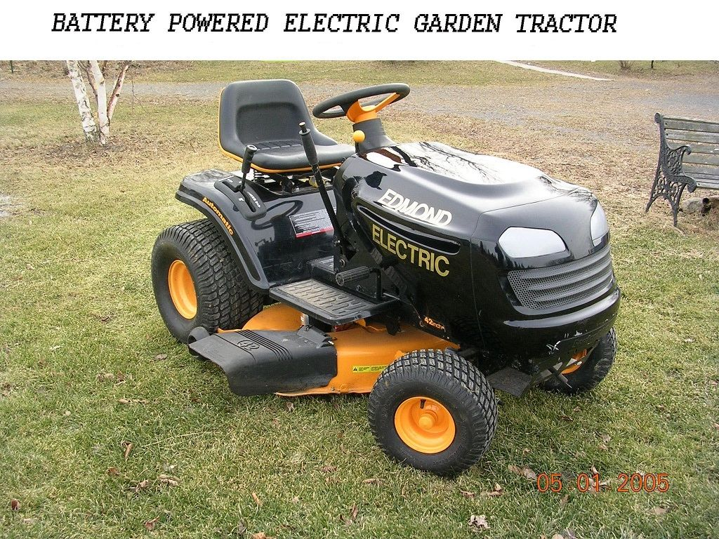 Electric Tractor Diy Electric Lawn Tractors Garden Tractors
