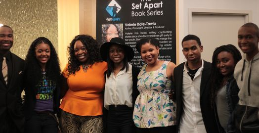 Valerie Kote-Tawia with the 2015 cast of, Would You Be Left, the stage play.