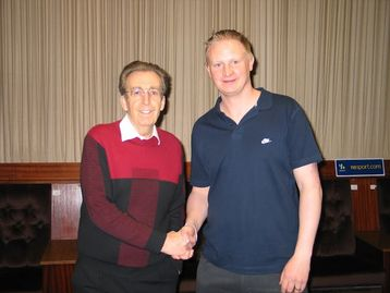 Gavin York and Terry Griffiths