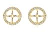 14kt yellow gold halo style earring jackets