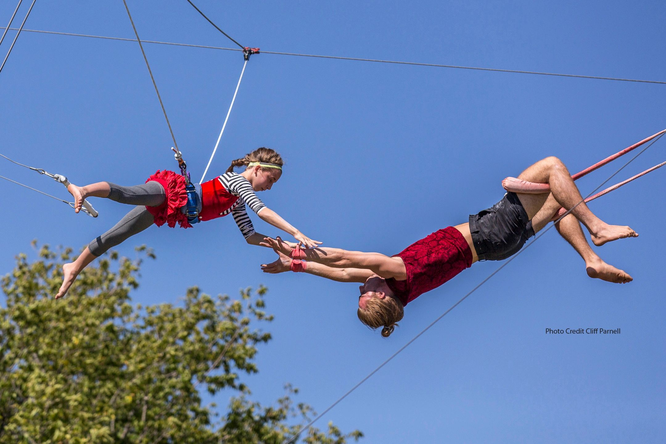 flying colors trapeze summer camp empowerment activities