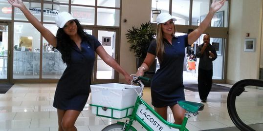 iCnady Brand Ambasadors working Lacoste Event