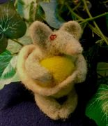Needle Felted mouse figure two inches tall