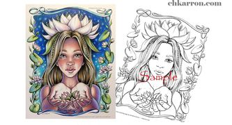 Printable coloring pages by Christine Karron, PDF files for download on Etsy