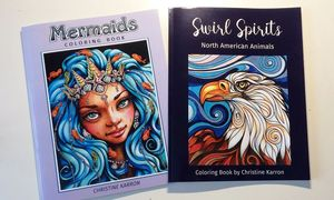 Mermaids and Animals Coloring books by Christine Karron available on Amazon