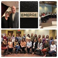 This is a collage of four photos taken during Emerge PA training.