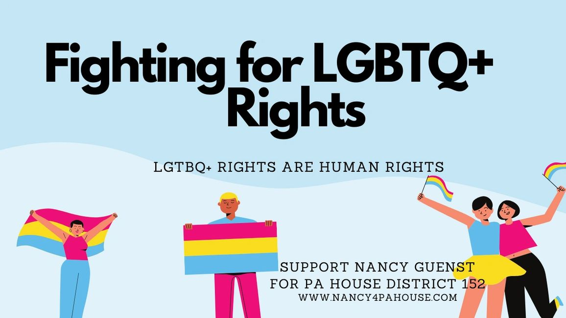"Graphic with the words ""Fighting for LGBTQ+ Rights, LGBTQ+ Rights are Human Rights"""