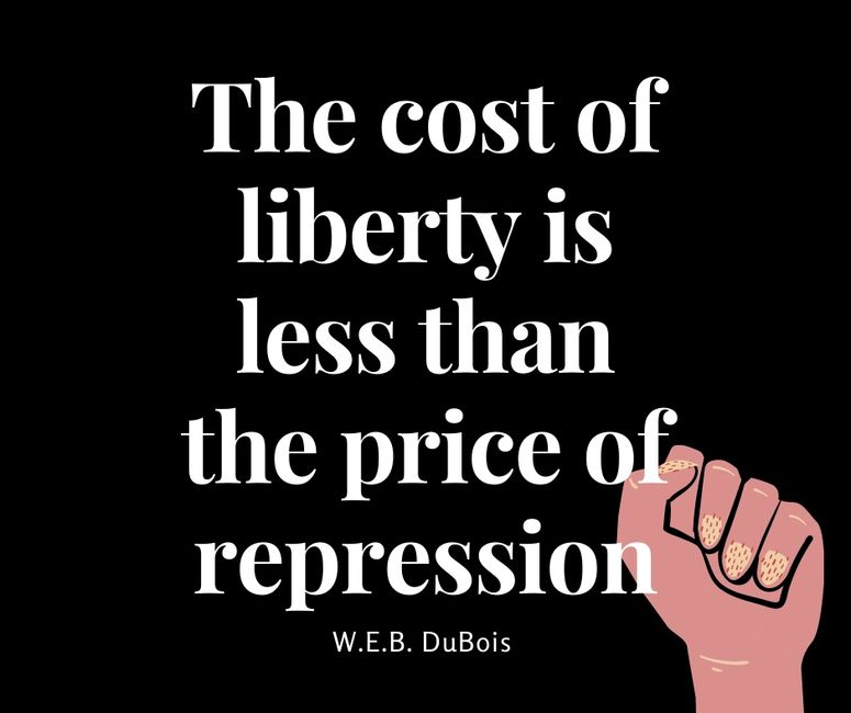 The cost of liberty is less than the price of repression, W.E.B. DeBois