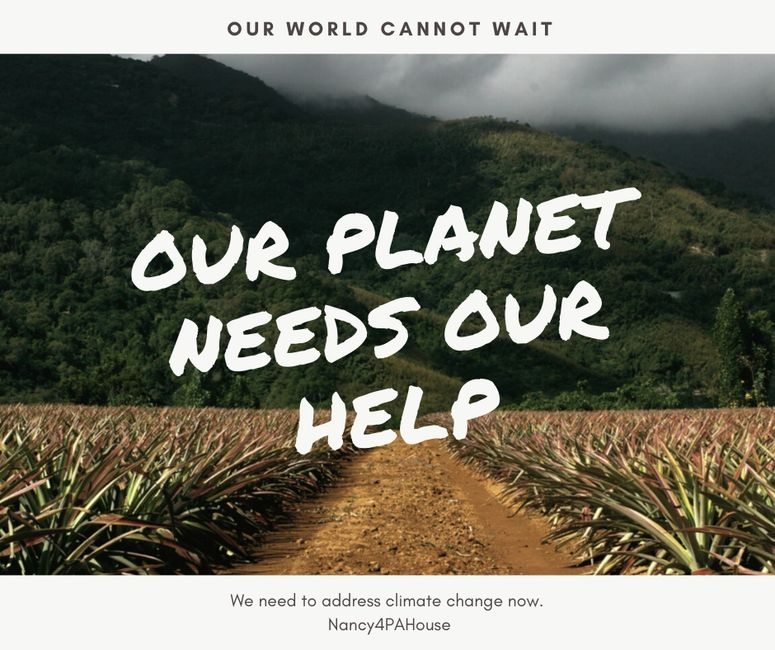Our world cannot wait, our planet needs our help, we need to address climate change now