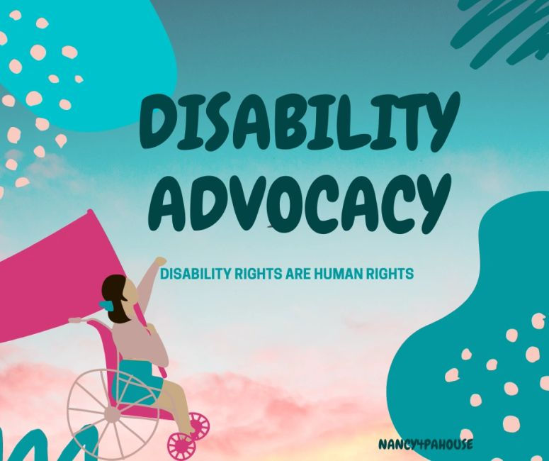 Disability advocacy, disability rights are human rights.