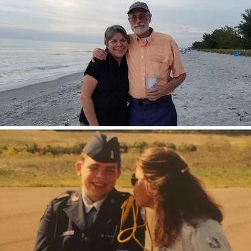 The top photo is Nancy and her husband, Steve. The bottom is Nancy and her daughter, Andrea.