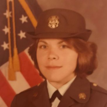This is a headshot photo of Nancy in her US Army uniform.