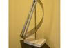 """Spinnaker"" - staineless and mild steel with marble base - 20 1/2"" tall x 10 1/2"" wide"