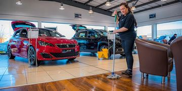 Dealership cleaning service