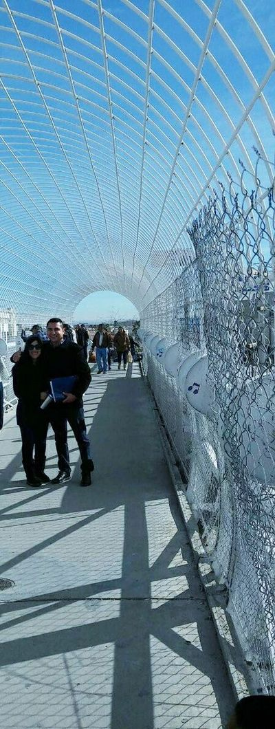 Clients Ana and Edgar prepare to enter the US after a successful consular interview in Cd Juarez.