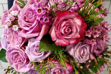 wedding bridal bouquet, lavender rose