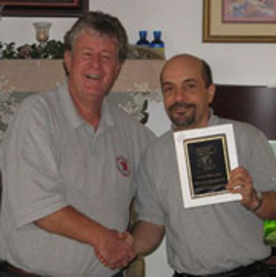 Club President E.T. Mellor and Membership Coordinator Michael Marcotrigiano