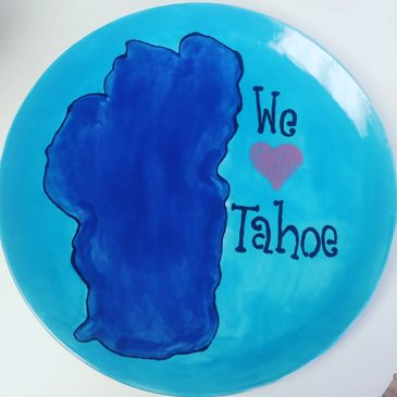 Paint your own pottery, make a Lake Tahoe plate