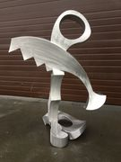 ALUMINUM  ABSTRACT SCULPTURE